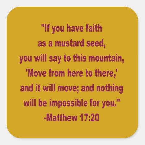 WDJS: Faith as a Mustard Seed Stickers
