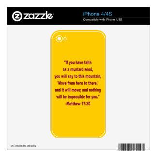 WDJS: Fe como piel del iPhone 4 de la semilla de m Skins Para eliPhone 4S
