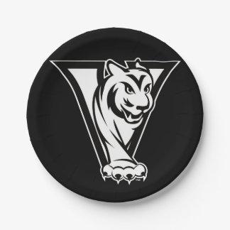 WDM de la High School secundaria del valle, tigre Platos De Papel