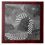 Wdow's Web Black Tiles