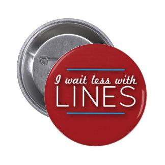 WDW alinea el botón Pin Redondo De 2 Pulgadas