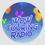 WDW que viaja al pegatina de radio