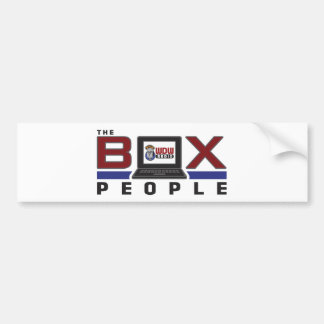 WDW Radio Box People Bumper Sticker