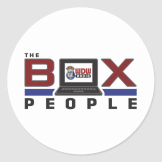 WDW Radio Box People Round Stickers