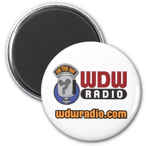 WDW Radio Logo Gear 2 Inch Round Magnet