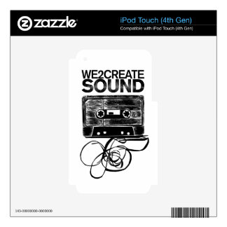 We2Create Sound K7 Skins For iPod Touch 4G