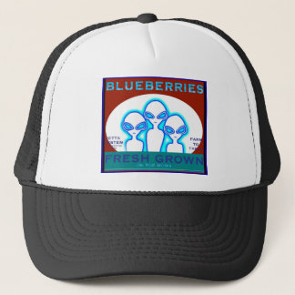 """""""We 3"""" Blueberry Crate Label Trucker Hat"""