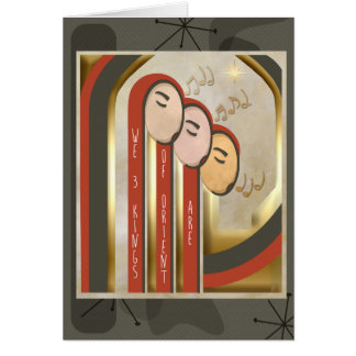 We 3 Kings - Art Deco Christmas Personalized Card