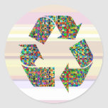 We adore Recycle Champions Round Stickers