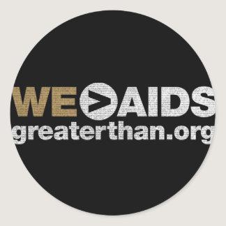 WE > AIDS Sticker