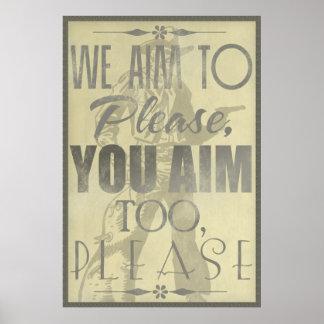 We Aim to Please Print