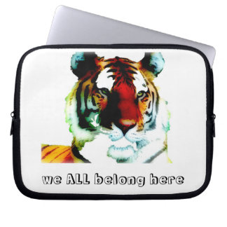 We ALL belong here lap-top case