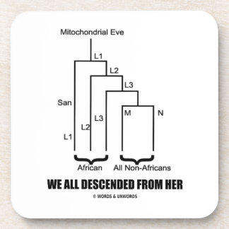 We All Descended From Her Mitochondrial Eve Coaster