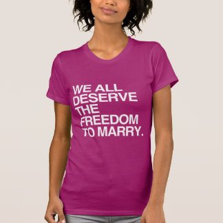 WE ALL DESERVE THE FREEDOM TO MARRY TSHIRT