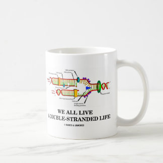 We All Live A Double-Stranded Life (DNA Humor) Coffee Mug