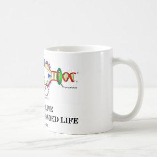 We All Live A Double-Stranded Life DNA Humor Coffee Mug