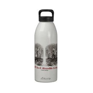 We All Live A Mirrorlike Existence Wonderland Water Bottles