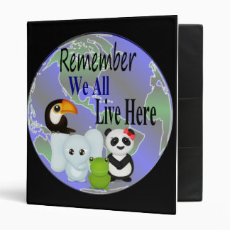 We All Live Here Animals Of The World Binder
