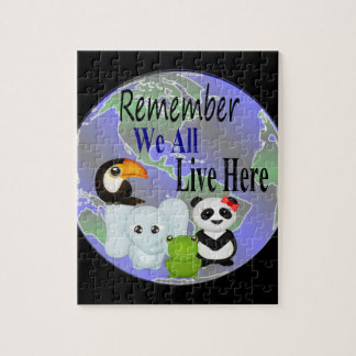 We All Live Here Animals Of The World Jigsaw Puzzle