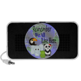 We All Live Here Animals Of The World Notebook Speakers