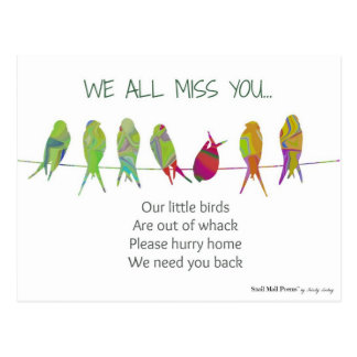 We All Miss You Poem from Kids Postcard