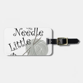 We All Needle Littel Peace Knitting Art Bag Tag