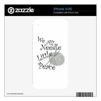 We All Needle Littel Peace Knitting Art Skin For iPhone 4