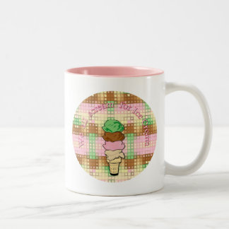 We All Scream For Ice Cream Two-Tone Coffee Mug