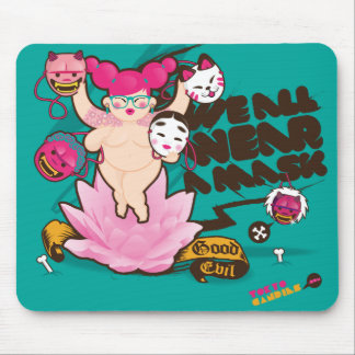We all wear a mask mouse pad