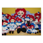"""""""WE ALL WISH YOU A  MERRY CHRISTMAS"""" RAGGEDY ANN GREETING CARD"""