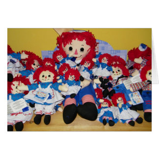 """WE ALL WISH YOU A  MERRY CHRISTMAS"" RAGGEDY ANN CARD"