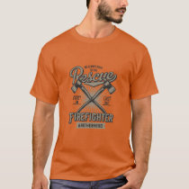 We Always Rush To The Rescue Vintage Style Fire T-Shirt