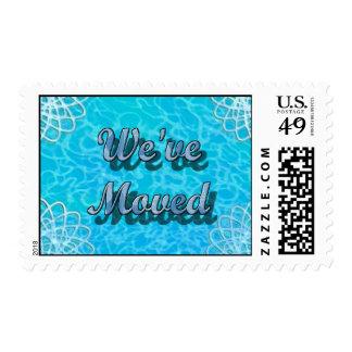 We've Moved Postage Stamps