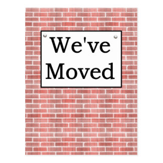 We've Moved Post Card