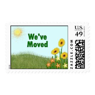 We've Moved Stamp