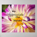 We Appreciate Our Nurses posters prints Nurse RN