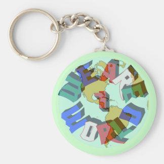 We Are 1 World Keychain
