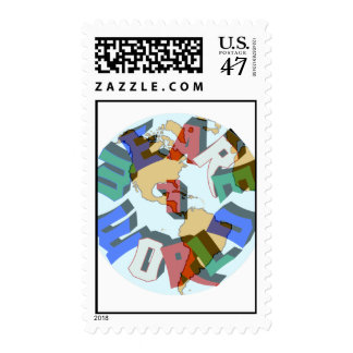 We Are 1 World Stamps
