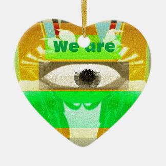 We are 3 ceramic ornament