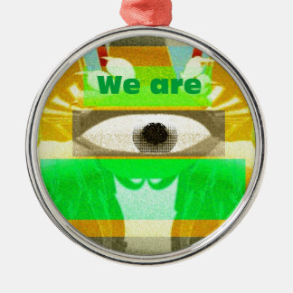 We are 3 metal ornament