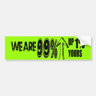 We are 99% Occupy Bumper Sticker