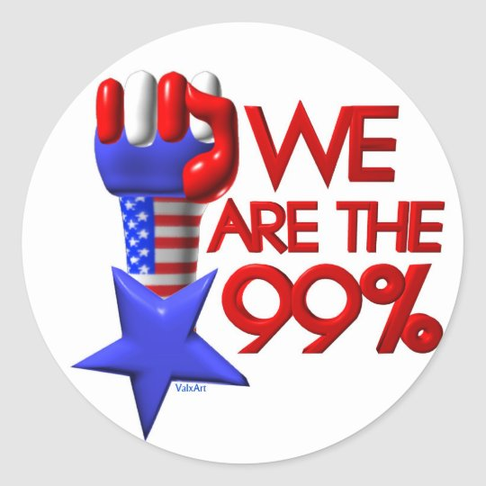 We are 99% rising star classic round sticker