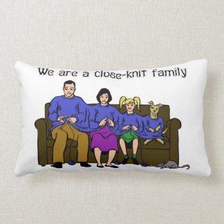 We are a Close-Knit Family pillow