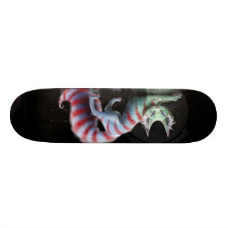 we are all a little mad here skateboard deck