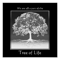 We Are All a Part of the Tree of Life Poster