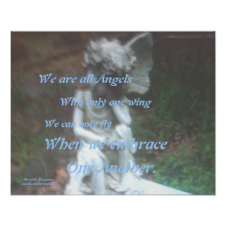 WE ARE ALL ANGELS POSTER