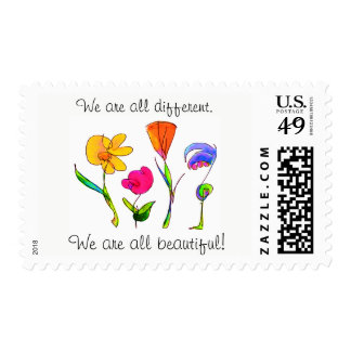 We Are All Beautiful Diversity Postage