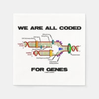 We Are All Coded For Genes (DNA Replication) Standard Cocktail Napkin