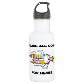 We Are All Coded For Genes (DNA Replication) Water Bottle
