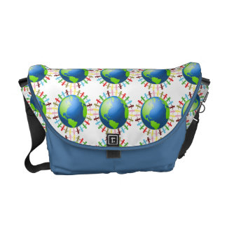 We Are All Connected messenger bag